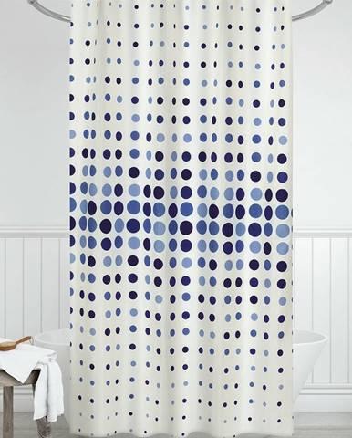 Bellatex Sprchový záves Bodky modrá, 180 x 200 cm