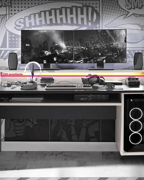 Kondela LED RGB osvetlenie 4-bodové 7 farieb TEZRO