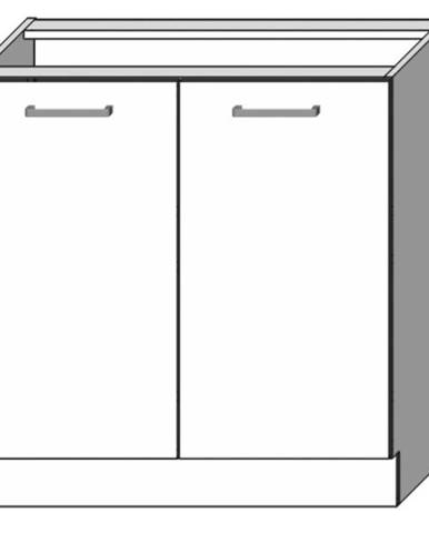 Kuchynská skrinka Vita D80 Biely lesk