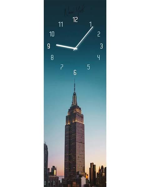 MERKURY MARKET Sklenené hodiny 20X60 MANHATTAN
