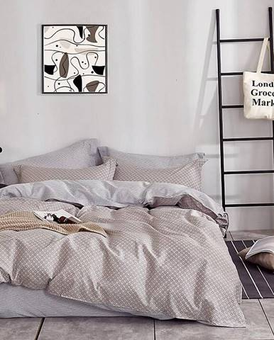 Bavlnená saténová posteľná bielizeň ALBS-0929B 200X220