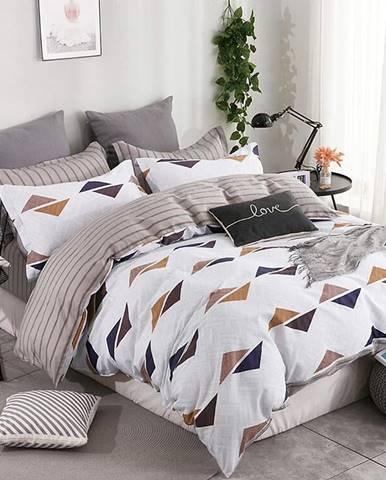 Bavlnená saténová posteľná bielizeň ALBS-0932B 160X200