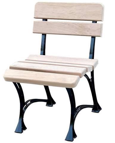 Královská židle přírodní dřevo