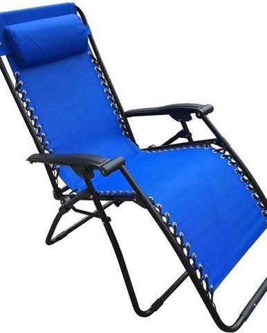 Záhradné lehátko modré D-070