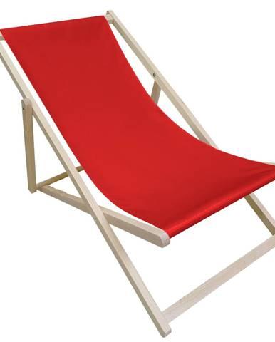 Zanzi plážové lehátko červená