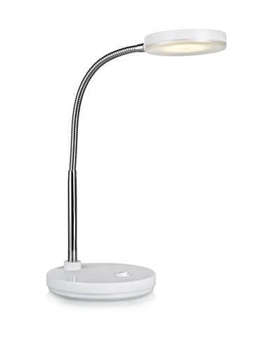 Biela stolová LED lampa Markslöjd Flex