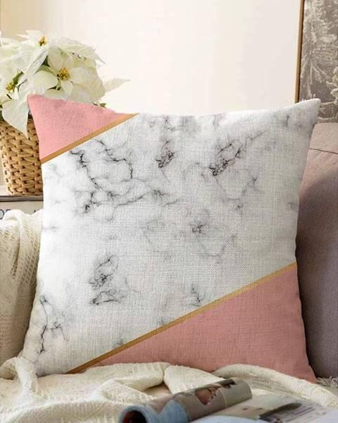 Minimalist Cushion Covers Obliečka na vankúš s prímesou bavlny Minimalist Cushion Covers Girly Marble, 55 x 55 cm