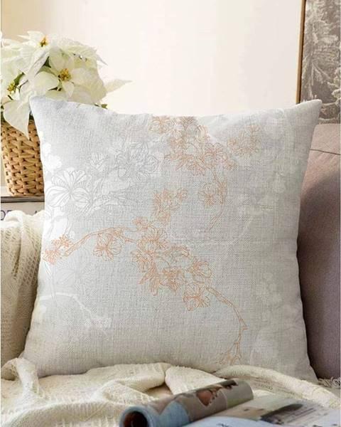 Minimalist Cushion Covers Sivá obliečka na vankúš s prímesou bavlny Minimalist Cushion Covers Bloom, 55 x 55 cm