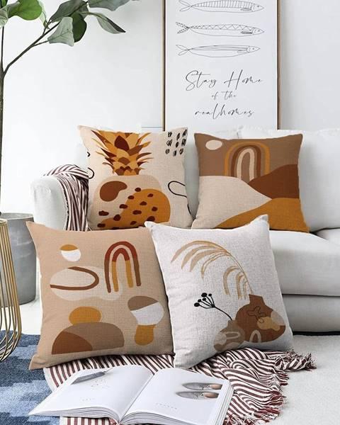 Minimalist Cushion Covers Súprava 4 obliečok na vankúše Minimalist Cushion Covers Pampas, 55 x 55 cm