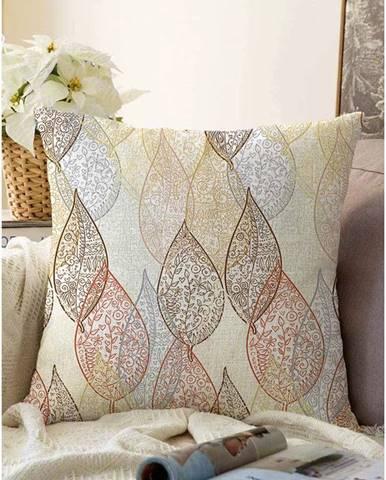 Obliečka na vankúš s prímesou bavlny Minimalist Cushion Covers Oriental Leaf, 55 x 55 cm