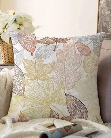 Obliečka na vankúš s prímesou bavlny Minimalist Cushion Covers Oriental Leaves, 55 x 55 cm