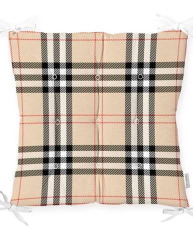 Sedák na stoličku Minimalist Cushion Covers Flannel Beige, 40 x 40 cm