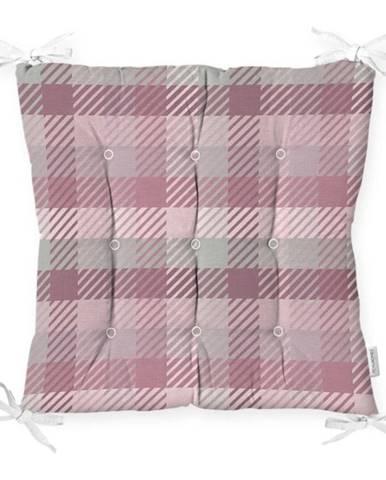 Sedák na stoličku Minimalist Cushion Covers Flannel Pink, 40 x 40 cm