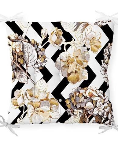 Sedák na stoličku Minimalist Cushion Covers Gold Leaf, 40 x 40 cm