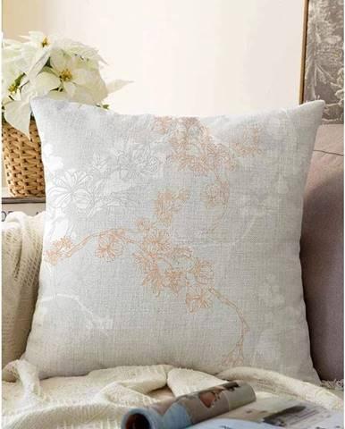Sivá obliečka na vankúš s prímesou bavlny Minimalist Cushion Covers Bloom, 55 x 55 cm