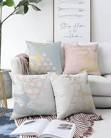 Súprava 4 obliečok na vankúše Minimalist Cushion Covers Spring Vibes, 55 x 55 cm