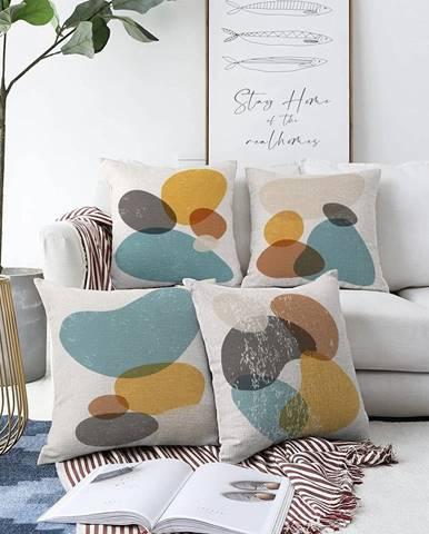 Súprava 4 obliečok na vankúše Minimalist Cushion Covers Stones, 55 x 55 cm