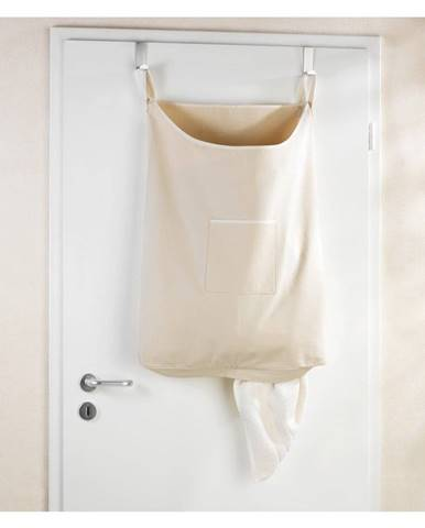 Béžový závesný kôš na bielizeň Wenko Door Laundry, 65 l