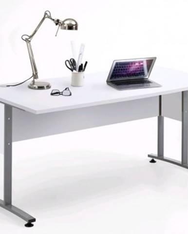 Písací stôl Calvia 2, biela%
