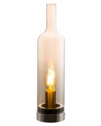 Stolná lampa Bottle 50090123, jantarové sklo%