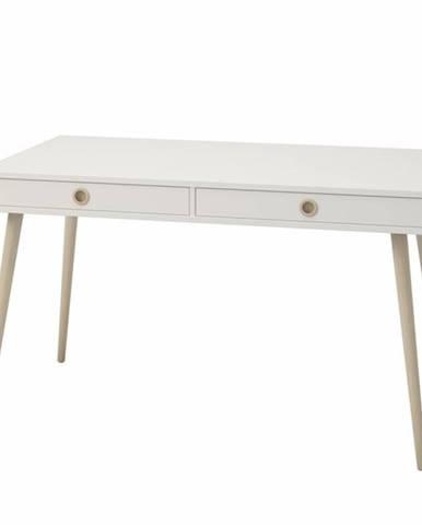 Písací stôl JOSHUA biela, 130x70 cm