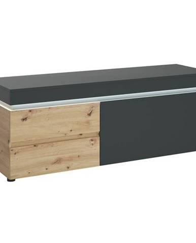 TV komoda LUCI dub artisan/sivá, 150 cm