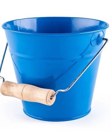 Woody Záhradné kovové vedierko 16 x 13,5 cm, modrá