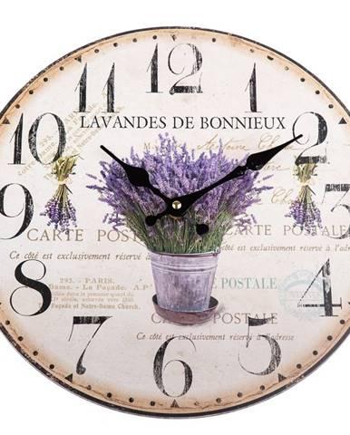 Nástenné hodiny Lavandes de Bonnieux, 34 cm