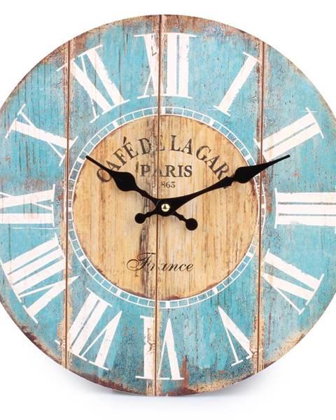 Altom Nástenné hodiny rímske číslice modrá, HLC170025