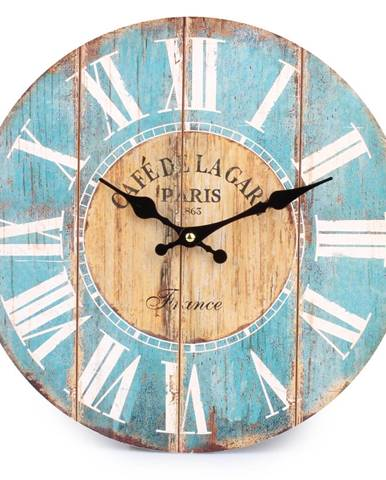 Nástenné hodiny rímske číslice modrá, HLC170025