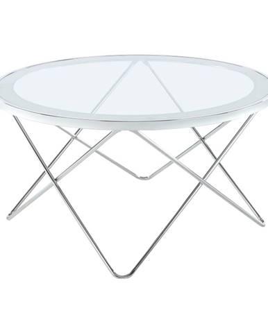 Konferenčný stolík chróm/číre sklo LEONEL