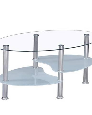 Konferenčný stolík oceľ/sklo WAVE NEW