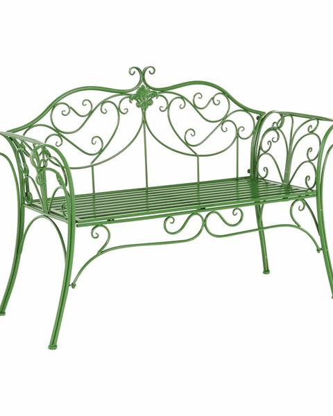 Kondela Záhradná lavička zelená ETELIA