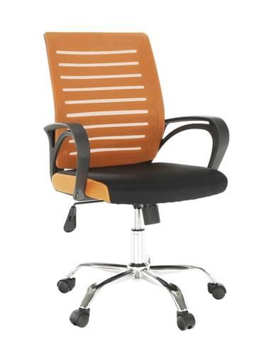 Kancelárska stolička oranžová/čierna LIZBON rozbalený tovar