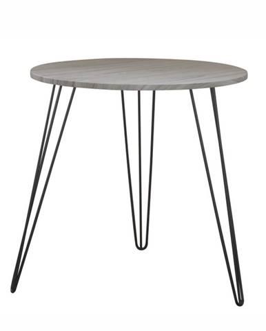 Príručný stolík dub/čierna KALEB poškodený tovar