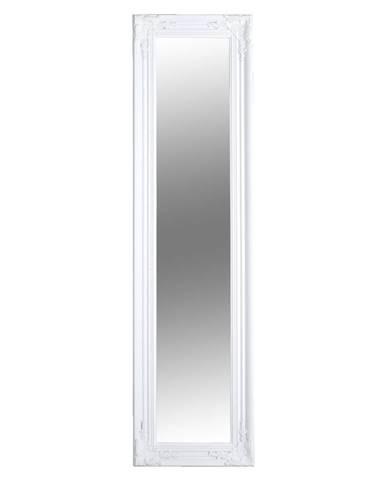Zrkadlo drevený rám bielej farby MALKIA TYP 8 poškodený tovar