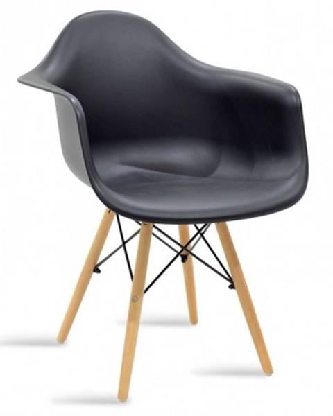 OKAY nábytok Jedálenská stolička Justy dub, čierna
