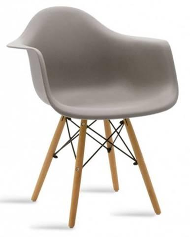 Jedálenská stolička Justy dub, sivá