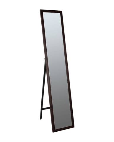 Zrkadlo drevený rám hnedej farby MALKIA TYP 4