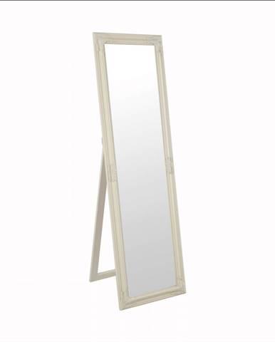 Zrkadlo drevený rám smotanovej farby MALKIA TYP 12