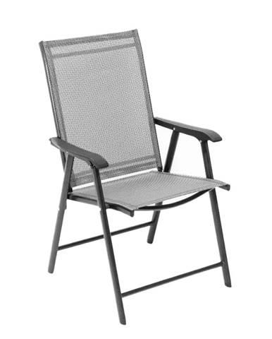 Skladacia zahradná stolička sivá Adola