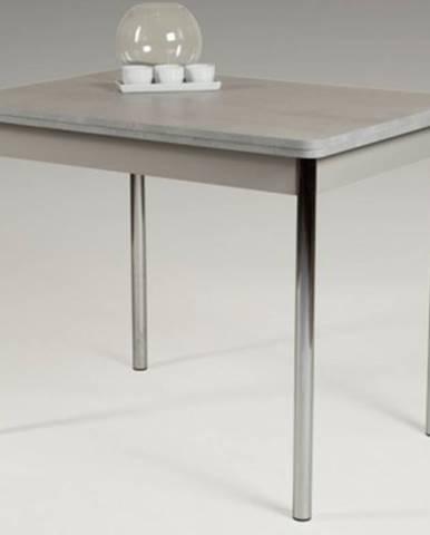 Jedálenský stôl Hamburg Aj 110x70 cm, sivý betón%