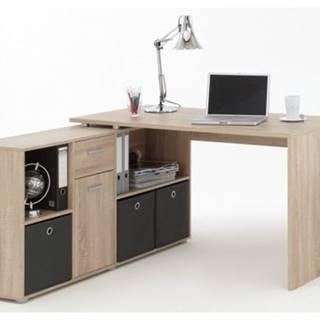 Písací stôl s regálom Lex, dub sonoma%
