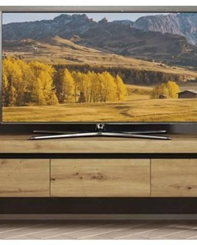 Široká TV skrinka Nordi, dub artisan, 160 cm%