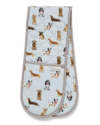 Dvojitá bavlnená chňapka Cooksmart ® Curious Dogs
