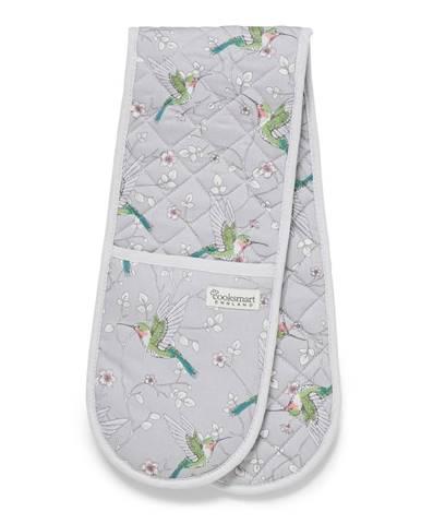 Sivá dvojitá bavlnená chňapka Cooksmart ® Hummingbirds