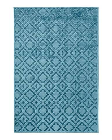 Modrý koberec z viskózy Mint Rugs Iris, 120 × 170 cm