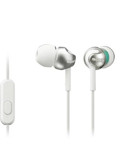 Slúchadlá do uší Sony MDR-EX110AP, biele