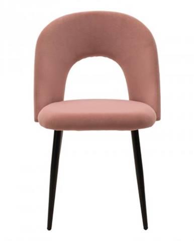 Jedálenská stolička Janet čierna, ružová