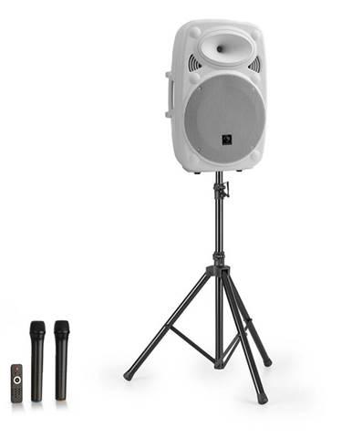 "Auna Streetstar 12, mobilný PA systém + statív, 12"" woofer, UHF mikrofón, 800 W max., biely"